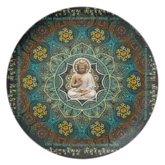 Mantra to Shakyamuni Buddha Dinner Plate