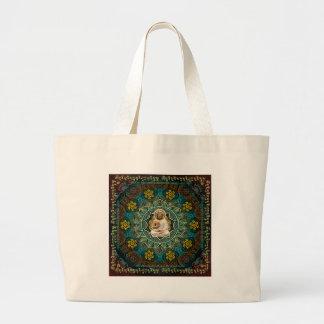 Mantra to Shakyamuni Buddha Large Tote Bag