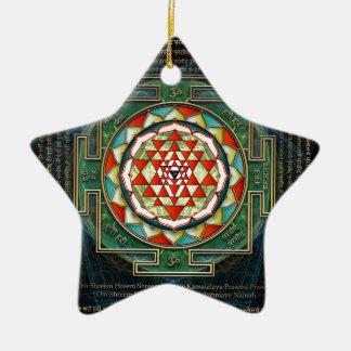 Mantra y Shri Yantra de Maha Lakshmi Adorno De Navidad