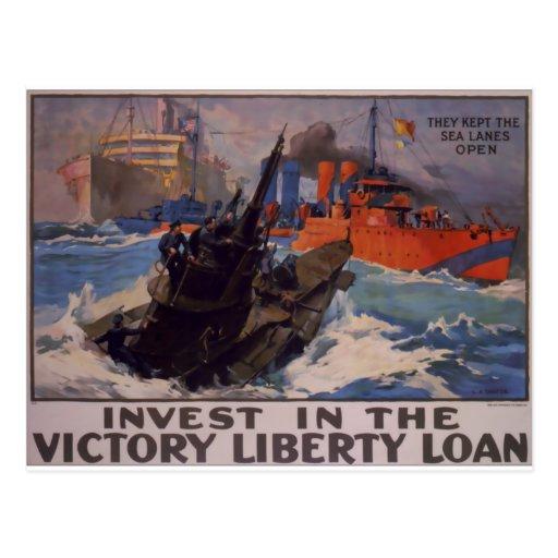 Mantuvieron las rutas marítimas abiertas tarjeta postal
