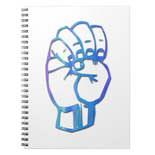 Manual Alphabet Letter E Notebook