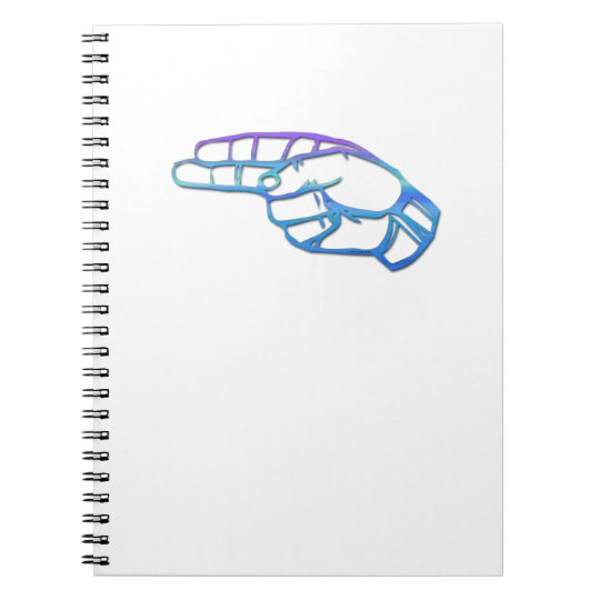 Manual Alphabet Letter H Notebook