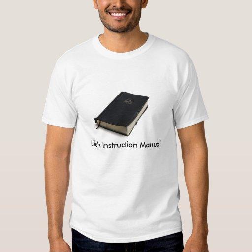 Manual de la instrucción de la vida camisas