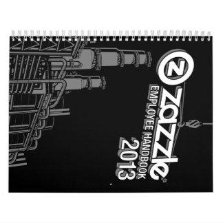 manual del empleado del zazzle calendario