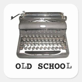 "Manual Typewriter ""Old School"" Stickers"