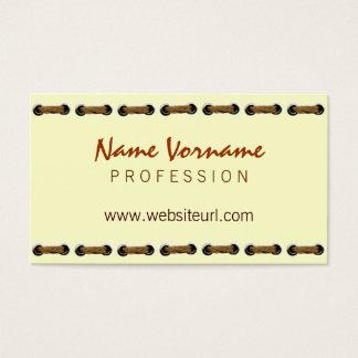 Manual work business card