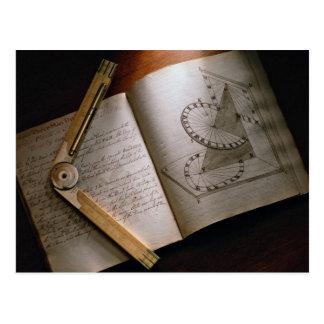Manual y regla del cálculo del arquitecto del Vict Tarjeta Postal