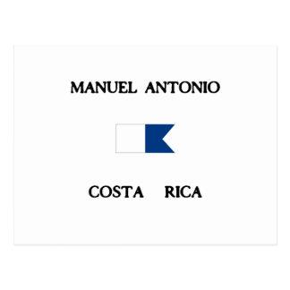 Manuel Antonio Costa Rica Alpha Dive Flag Postcard