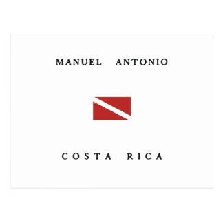 Manuel Antonio Costa Rica Scuba Dive Flag Postcard