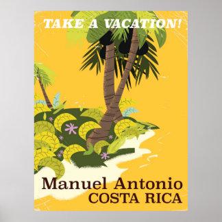 Manuel Antonio, Costa Rica vintage travel poster