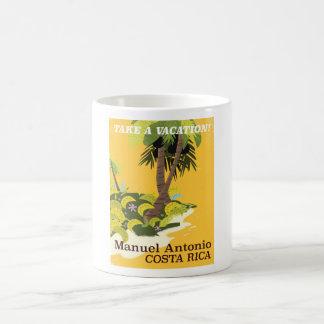 Manuel Antonio, Costa Rica vintage travel poster Coffee Mug