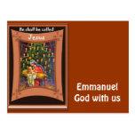 Manuel, dios con nosotros postal