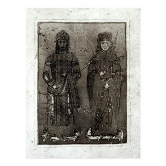 Manuel I Comnenus  and Empress Maria of Antioch Postcard