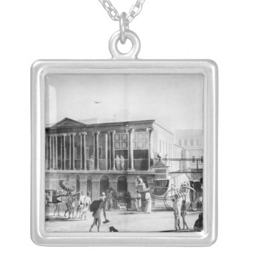 Manufactory and Bazaar, Calcutta House Square Pendant Necklace
