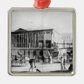 Manufactory and Bazaar, Calcutta House Square Metal Christmas Ornament