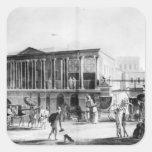 Manufactory and Bazaar, Calcutta House Square Sticker