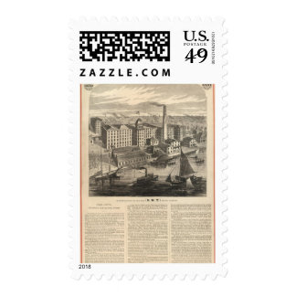 Manufactory of Clark's ONT Spool Cotton Postage