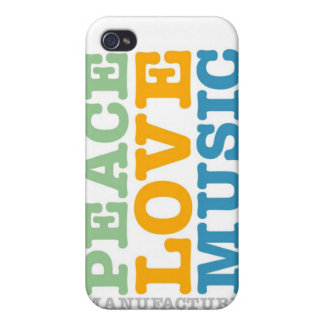 Manufacture Peace, Love, and Music iPhone 4/4S Cases