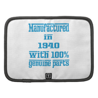 Manufactured in 1940 with 100% genuine parts planner