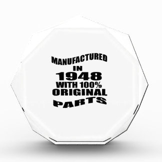 Manufactured  In 1948 With 100 % Original Parts Acrylic Award
