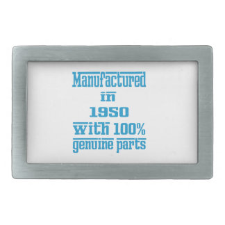 Manufactured in 1950 with 100% genuine parts rectangular belt buckles