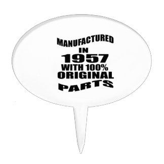 Manufactured  In 1957 With 100 % Original Parts Cake Topper