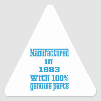 Manufactured in 1983 with 100% genuine parts triangle stickers