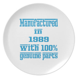 Manufactured in 1989 with 100% genuine parts dinner plate