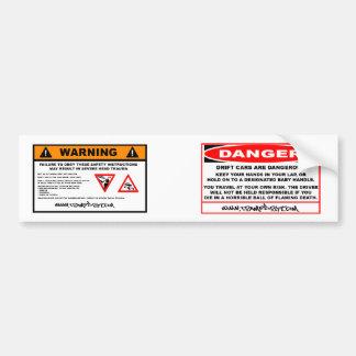 manufacturers_warning car bumper sticker