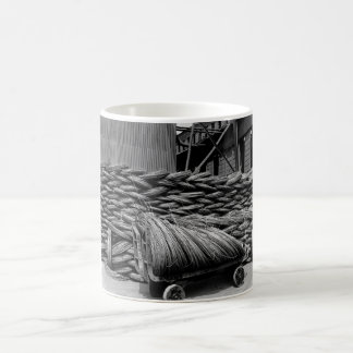 Manufacturing barbed wire.  Wire rods_War image Coffee Mug