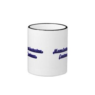 Manufacturing Engineer Classic Job Design Ringer Coffee Mug