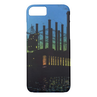 Manufacturing Factory at Sunset, Vintage Business iPhone 8/7 Case