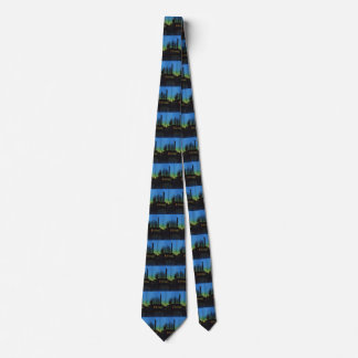 Manufacturing Factory at Sunset, Vintage Business Neck Tie