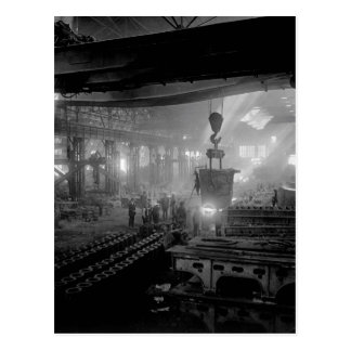 Manufacturing steel ingots for_War image Postcard