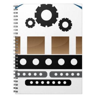 Manufacturing Team Icon Spiral Notebooks