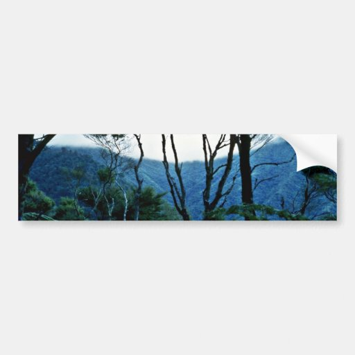 Manuka Scrub And Mist, Moehau Mountain Bumper Sticker
