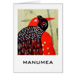 manumea - especie en peligro de pájaro de Samoa Tarjetas