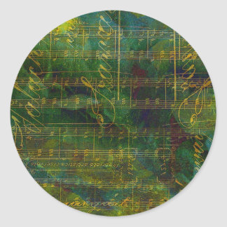 Manuscript Abstract Round Sticker