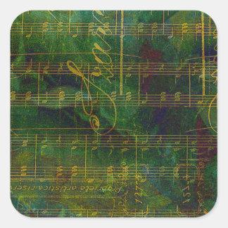 Manuscript Abstract Square Sticker