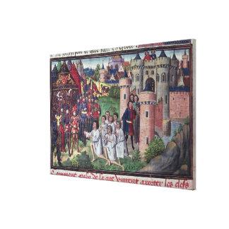 Manuscript by Jean Vauquelin Canvas Print