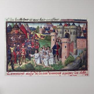 Manuscript by Jean Vauquelin Poster
