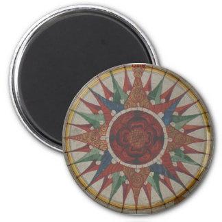 Manuscript Compass Rose Magnet