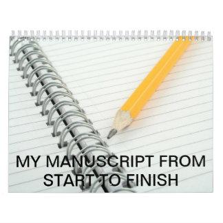 Manuscript from start calendar