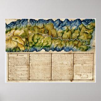 Manuscript Map of the Dagua River, Columbia (1764) Poster