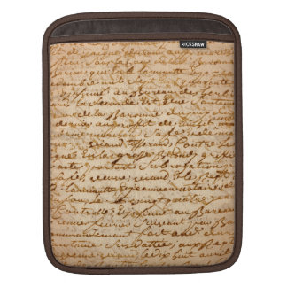Manuscript parchment iPad sleeve