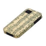 Manuscrito de Bach Chaconne para el violín a solas Vibe iPhone 4 Carcasa