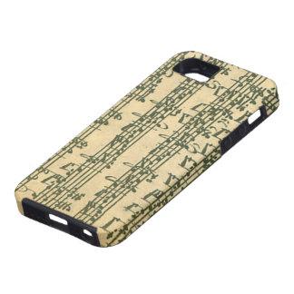 Manuscrito de Bach Chaconne para el violín a solas iPhone 5 Case-Mate Cobertura