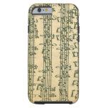Manuscrito de Bach Chaconne para el violín a solas Funda De iPhone 6 Tough