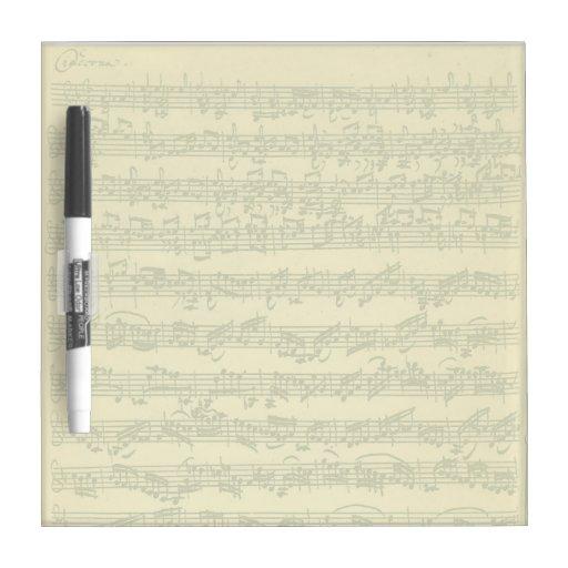 Manuscrito de Bach Chaconne para el violín a solas Tableros Blancos