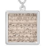 Manuscrito de Brahms Colgante Cuadrado